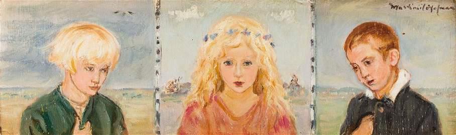 Wlastimil Hofman (1881 - 1970), Childhood - Triptych,