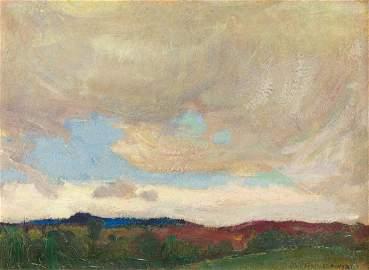 Jan Stanislawski,'Zakopane', 1901, oil/paperboard,