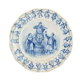 Plate, Faience, Porcelain and Stoneware Factory in