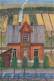 Nikifor Krynicki (1895 - 1968), Villa, circa 1940,