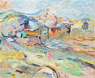 Judyta Sobel (1924 - 2012) Landscape, 1960
