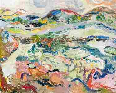 Judyta Sobel (1924 - 2012) Mountain landscape, 1960