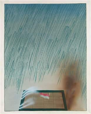 "Stanislaw Fijalkowski (1922 - 2020) ""Flag and rain"","