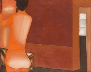 Jerzy Nowosielski (1923 - 2011) Interior with nude,