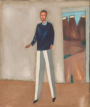 Jerzy Nowosielski (1923 - 2011) Portrait of a male,