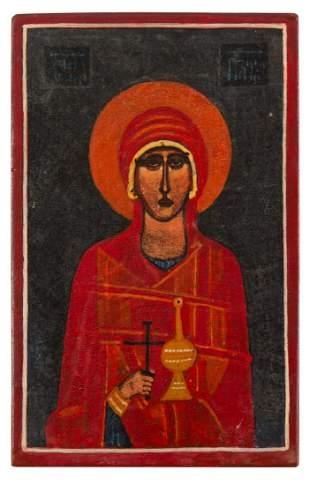 Jerzy Nowosielski (1923 - 2011) Saint Paraskeva, 1971