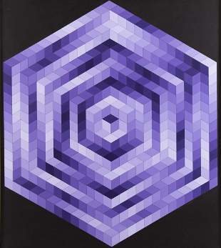 "Victor Vasarely (1906 - 1997) ""Kristal"", 1983"