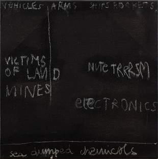 """Radek Szlaga (b. 1979) """"Blackboard"""", 2005"""