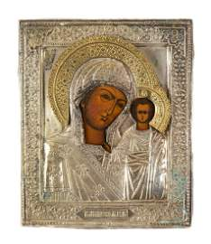 Icon - Kazanskaya Mother of God, XIX/XX w. , Russia,