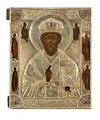 Icon - Saint Nicholas Miracle Worker , Russia,