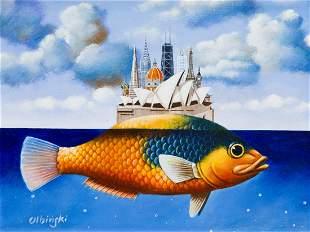 "Rafal Olbinski (b. 1943) ""Yellow submarine"", 2005"