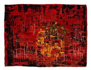 """Renata Jankowska (b. 1956), """"Pinatubo"""", 1992, wool, 134"""