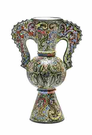 Faience Factory in Nieborow Decorative Vase , end of