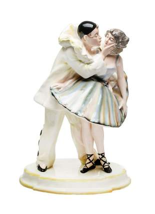 Faience Factory in Pacykow Pierrot and dancer, ,