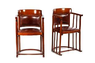 Josef Hoffmann Thonet A Pair of Armchairs, beginning of