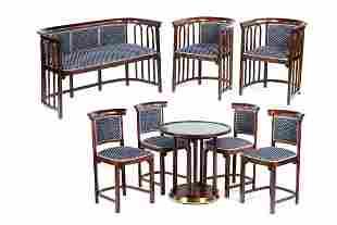 Josef Hoffmann Furniture Set, beginning of the 20th