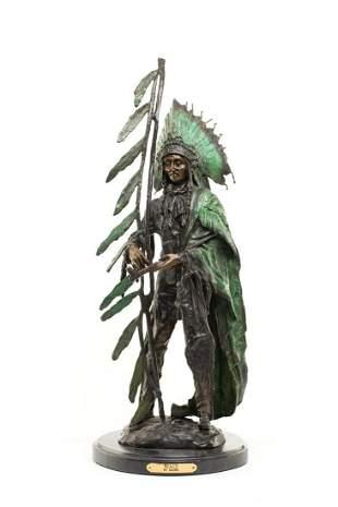 "Carl Kauba (1865 - 1922), ""Peace"", patinated bronze, 68"
