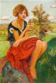 Wlastimil Hofman (1881 - 1970), (1881 - 1970), Girl