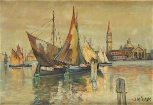 Hans Gleissner , , Venice. View of the San Giorgio