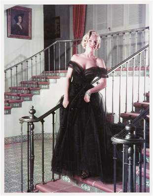 Johnny Florea (1916 - 2000) Marilyn in a ball gown on