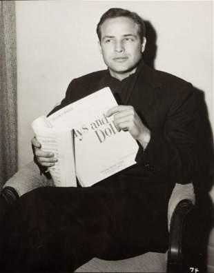 Al St. Hilaire (1908 - 1990) Marlon Brando on the set