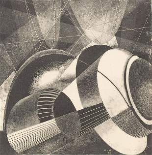 Karol Hiller (1891 - 1939) Heliographic composition