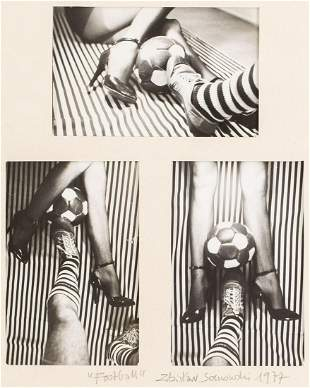 """Zdzislaw Sosnowski (b. 1947) """"Football"""", 1977"""