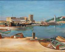 Henryk Hayden (1883 - 1970), Port in Normandy, circa