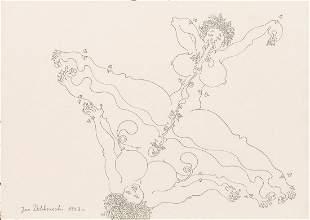 Jan Dobkowski (b. 1942) Erotic drawing, 1993
