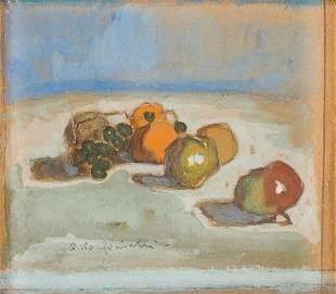 Alfons Karpinski (1875 - 1961) Still life with fruit