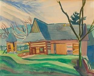 Zofia Stryjenska (1891 - 1976) Cottage in Podhale, 1918