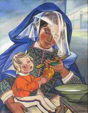 Zofia Stryjenska (1891 - 1976) Maternity, circa 1940