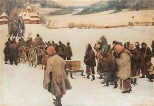 Teodor Axentowicz (1859 - 1938) Hutsul funeral