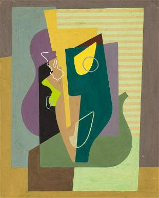"Samuel Szczekacz (1917 - 1983) ""Cubist still life"","
