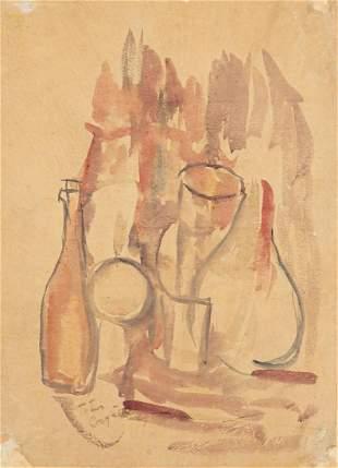 Tytus Czyzewski (1880 - 1945) Still life with utensils