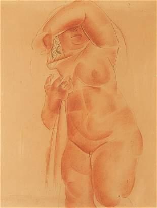 Helena Kwiatkowska (1886 - 1956) Female nude with a