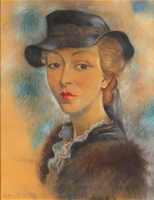 Henryk Berlewi (1894 - 1967) Portrait of a woman in a