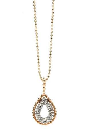 Diamond pendant, 2nd half of the 20th Century, 0.585