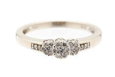 Diamond ring, 20th/21th Century, 0.416 white gold, 23