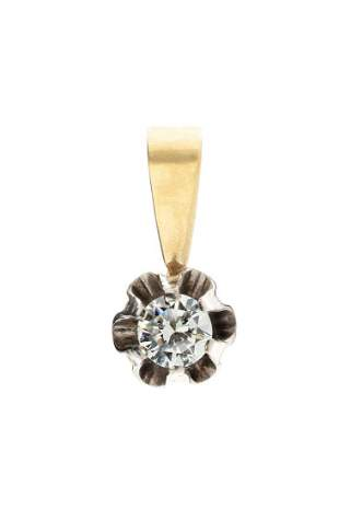 Diamond pendant, 2nd half of the 20th Century, 0.750