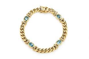 Aquamarine and diamond bracelet, 2nd half of the 20th