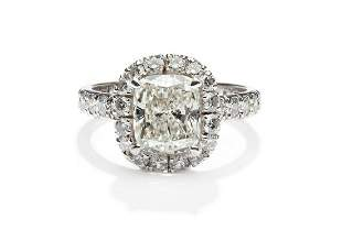 Diamond ring, end of the 20th Century, 0.750 white