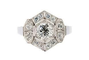 Diamond ring, 2nd half of the 20th Century, 0.950