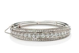 Diamond bracelet, 20th/21th Century, 0.585 white gold,