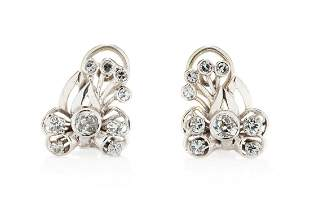 Earrings, 2nd half of the 20th Century, 0.750 white