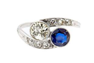 Sapphire and diamond ring, beginning of the 20th