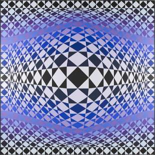 "Victor Vasarely (1906 - 1997) ""Zig-Zag"", 1986"