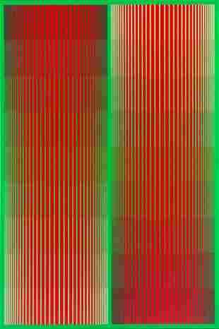 "Richard Anuszkiewicz (1930 - 2020) ""Greening Red Duo"""