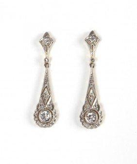 Pair Of Art Deco Earrings , Western Europe, Art D�co