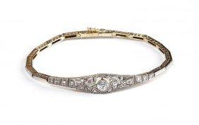 Platinum Bracelet With Diamonds ,  20-ties�30-ties X
